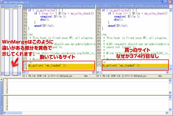 wp-データの差異